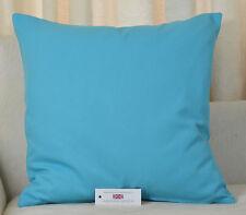"CUSHION COVER 20""x20"" 51cm sq Cotton Blend Turquoise Blue"