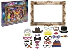 25 Pcs Photo Booth Selfie Props with Large Picture Frame for Adult Party Occasions