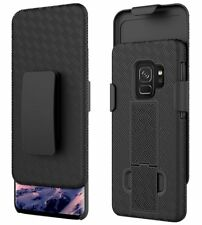 Samsung Galaxy S9 - HARD HOLSTER KICKSTAND COMBO CASE COVER with BELT CLIP BLACK