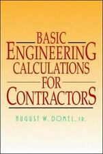 Basic Engineering Calculations for Contractors by Domel, August