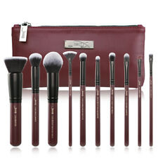 Jessup Make up Brushes Set 10Pcs Powder Foundation Blending Brush& Cosmetic Bag