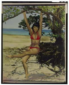Bunny Yeager Estate Pin-up Color Proof Transparency  Bettie Page Crandon Park NR