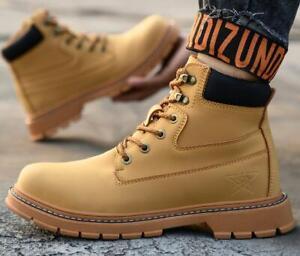 Men Women Safety Shoes Steel Toe Cap High Top Outdoor Work Boots Lightweight