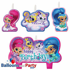 4 Piece Shimmer and Shine Birthday Party Cake Topper Decoration Candles