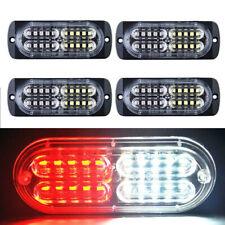 4pcs 20 LED Strobe Lights Emergency Flashing Warning Beacon Red/White 12V 24V