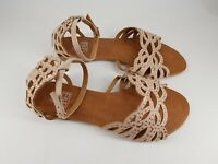 F&F size 3 (36) dusky pink faux suede buckle diamante strappy sandals
