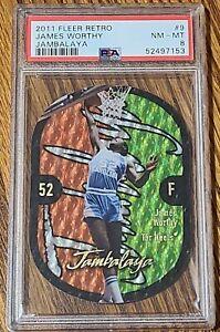 2011 Fleer Retro James Worthy Jambalaya Die Cut PSA 8 NC Tarheels/LA Lakers