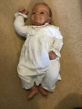 "22"" Realistic Reborn Dolls Lifelike Baby Newborn LW Dressed In A White Cotton"