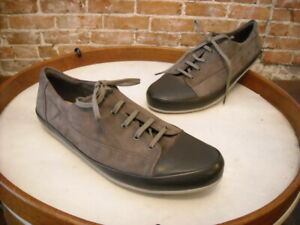 Clarks Taupe Leather & Suede Lorry Grace Lace up Casual Sneaker New