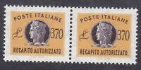 Italy 1990 Concessional Letter Post - 370L Orange Pair - SG CL922 - MNH (D15C)