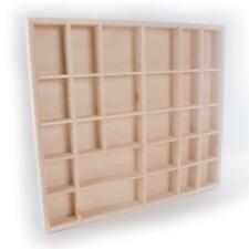 Wooden Display Cabinet Wall Trinket Shelf | 28 Compartments | 45 x 44 x 3.5 cm