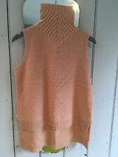 Shae Cashmere and wool Sweater /Shell Top/Sleeveless tunic, Camel , Medium. BNWT