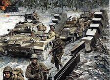 Don Stivers print, Breaking the Harlange Pocket, 6th Cav, Battle of the Bulge
