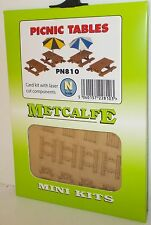 Metcalfe PN810 - Mini Kit Card Picnic Tables - New - (N Gauge) Railway Model.