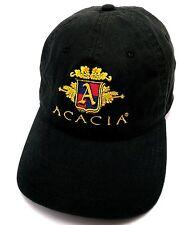 ACACIA VINEYARD, NAPA CALIFORNIA black adjustable cap / hat - winery - see desc.