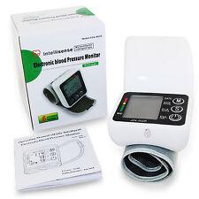 Wrist Cuff Blood Pressure Monitor Heart Beat Rate Pulse Meter Measure Machine
