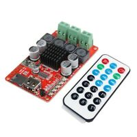 TPA3116 2*50W Bluetooth Receiver Amplifier Board+Remote TF Card U Disk Player X-