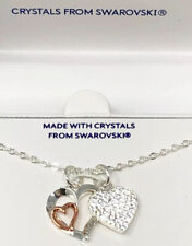"Brilliance Friend Pendant 18"" Necklace Fine Silver Plated Swarovski Crystals"