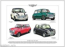 THE MINI COOPER 1991-2000 - Art Print A3 size - RSP Commemorative 35 Monte Carlo