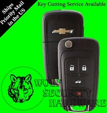 Chevy OEM 4 Button Flip Key Remote Fob Transponder Chip Key Blank * We Can Cut *