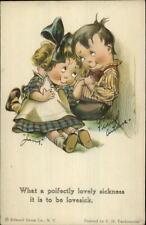 Charles Twelvetrees - Cute Kids Romance LOVELY SICKNESS c1910 Postcard