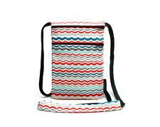 Fabric travel pouch, Passport holder, Travel Accessory, Chevron Wave - NEW