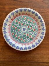 Susan Leader Pottery VT Spongeware Round Dinner Plate