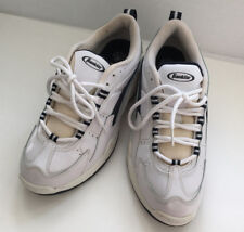 retro mens white tie lace athletic walking tennis shoes Franklin brand size 9.5