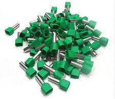 Embouts de cablage double 2x 6 mm² vert le lot de  25 pièces