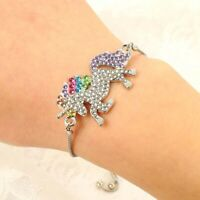 1Pc Unicorn Horse Crystal Charm Pendant Adjustable Chain Bracelet&Bangle Jewelry
