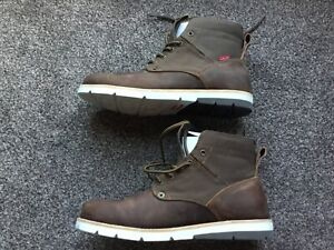 Levi's Jax Leather Boots men's work boots dark brown leather canvas NEW uk 9