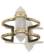 NWT Kendra Scott Shelli Statement WRIST Cuff Bracelet in Antique Brass & Agate