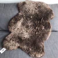 XL Icelandic Chestnut Brown Sheepskin Rug 100% Natural 50mm Shorn 110cm RRP £85