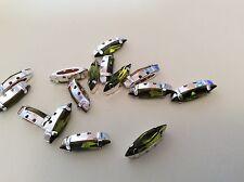 Swarovski #300 cose en São olivino 15x4mm Paquete de 6 Artesanía C'1960 Post Gratis
