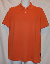 HUGO BOSS FRESH BRIGHT ORANGE COTTON GOLF/POLO SHIRT HB7244