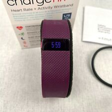 Fitbit Charge HR Heart Rate Activity Tracker Wrist Band Smart Plum Sleep Large