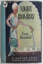 NIGHT IN BOMBAY LOUIS BROMFIELD MARCH 1946 BANTAM #28 1ST PB ED