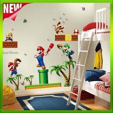 Super Mario Wall Sticker Monkey Jungle Animal Princess Nursery Baby Decal Art