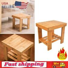 New listing Bamboo Wood Color Convenient Bench Stool Space-saving Safty for Children