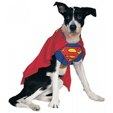 Superman Dog Costume Superhero Pet Halloween Outfit