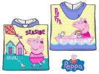 Peppa Pig Wutz Badeponcho Kapuze Duschtuch Badetuch Strandtuch  50x100cm
