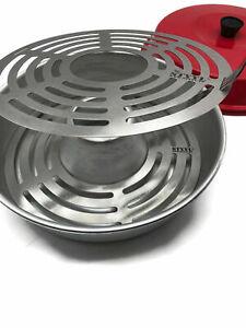 Edelstahl Gitterrost + Aufbackgrost paßt für OMNIA Backofen Grillen & Aufbacken