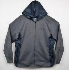 Under Armour Men's Sz 2XL ColdGear Full Zip Hoodie Gray UA Storm Track Jacket