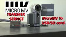 Sony MICROMV tape convert transfer copy to DIGITAL FILE on USB, SD Card