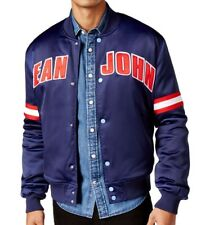 Sean John Men's Patriot Blue Satin Bomber Jacket Size 3XL