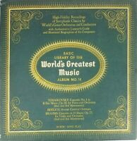 Basic Library Of The World's Greatest Music Album No.14 Vinyl Record LP VG