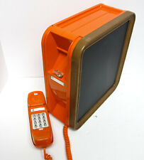 Bright Orange Western Electric Noteworthy TouchTone Wall Telephone -Full Rest.