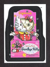 2004 Topps Wacky Packages ANS2 Series 2 P1 PROMO Sticker Card GOODBYE KITTY nm