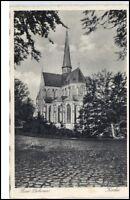 Bad Doberan 1943 Feldpost 2. Weltkrieg gelaufen Straßenpartie an der Kirche