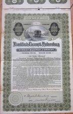 1910 Trolley Gold Bond Certificate-Frankford, Tacony & Holmesburg Street Railway